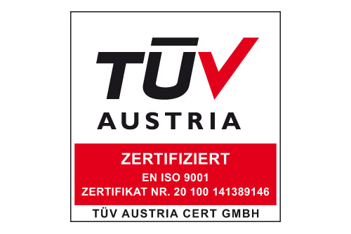 TSafe is DIN ISO EN 9001:2008 certified by TÜV Austria